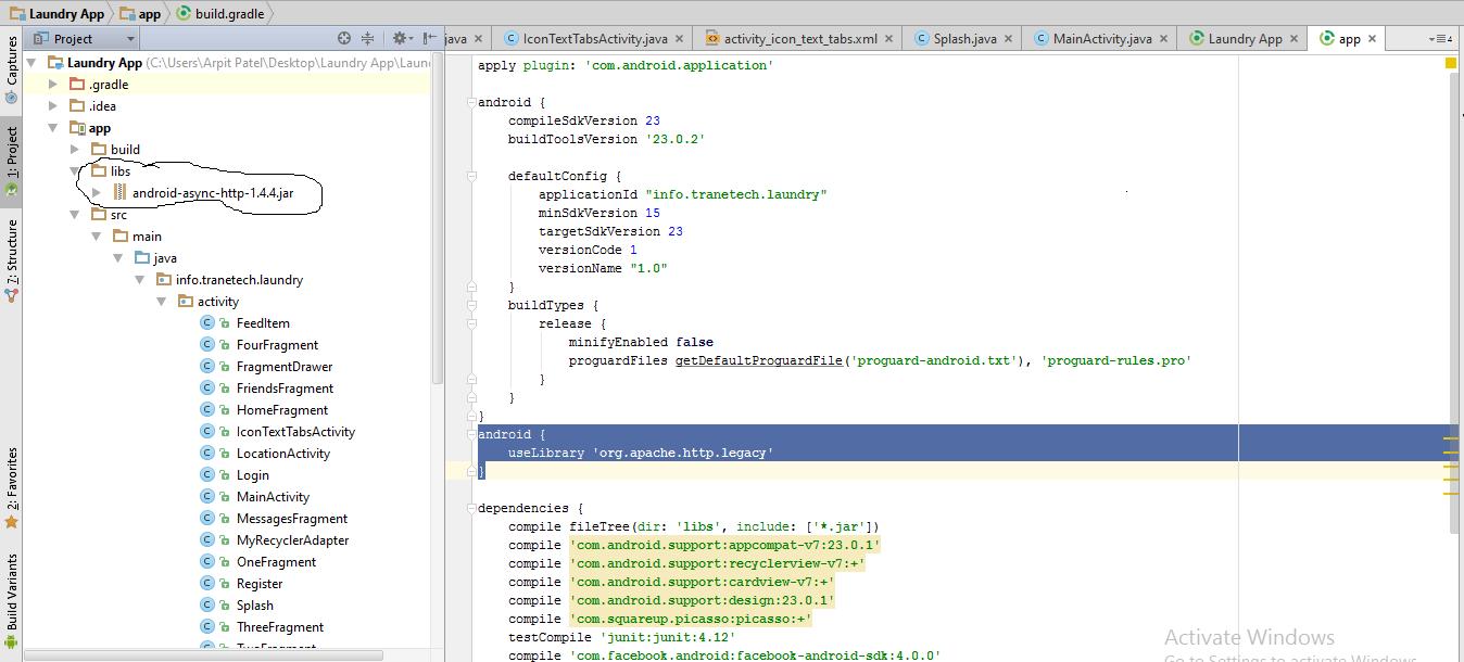java - Wie benutzt man den alten Apache HTTP Client auf Android