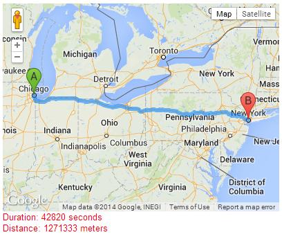 javascript - Wegbeschreibung Strecke in Google Maps API v3
